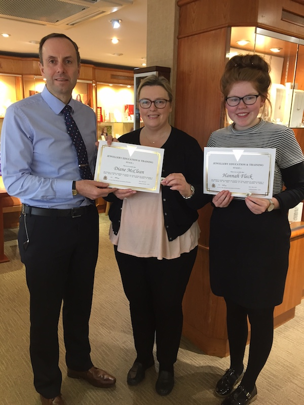 Congratulations to staff at Robert Adair Jewellers
